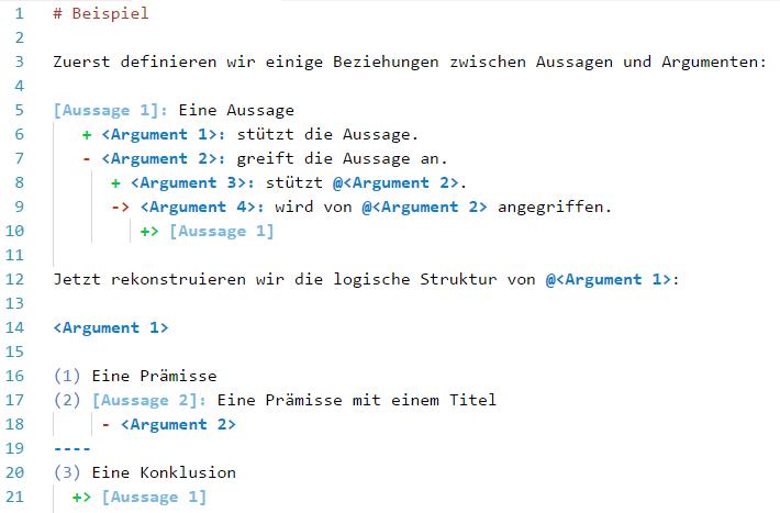 Argdown-Code-Beispiel
