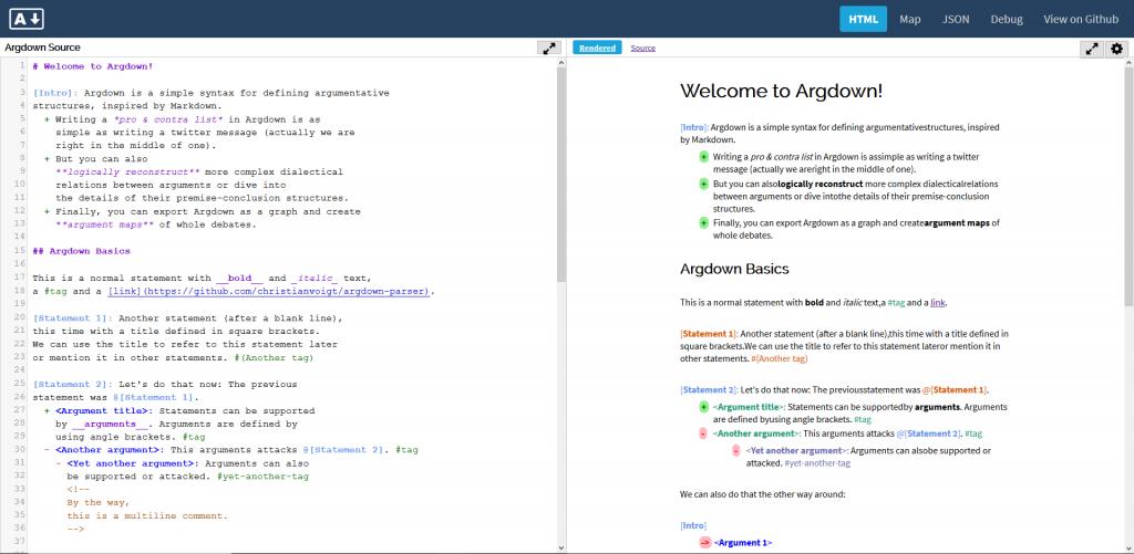 Argdown-Online-Editor